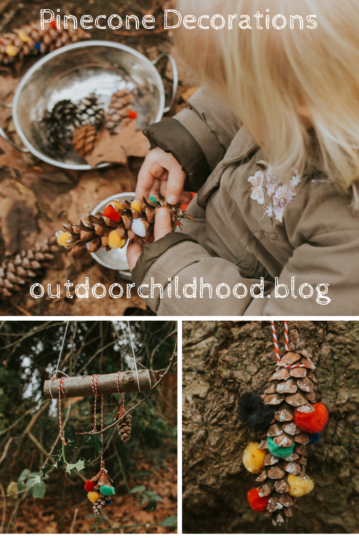 Christmas Decorations Tested At Forest School Week 4 Pinecones